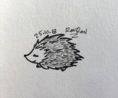 Inktober Day 25: Prickly by RanRanArtish