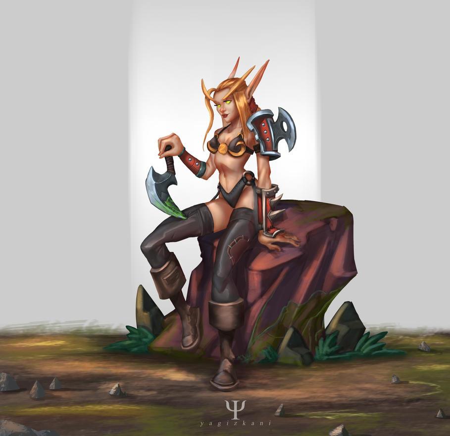 blood elf rogue by yagizkani