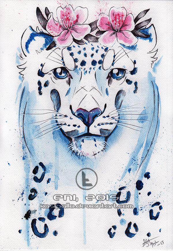 Snow leopard by Kasipallo