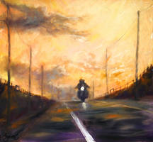 Bikers in the sunset by Ng-art01