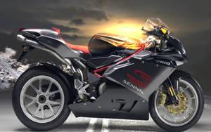 Sunset Moto Bike by g0dz5
