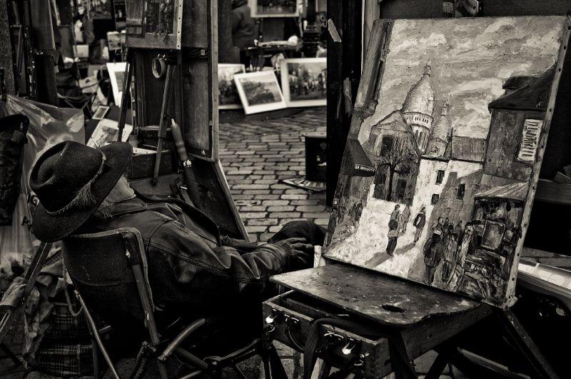 painter, montmartre