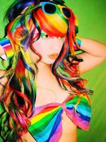 Alexandra-Rainbowhair by AlexandraMetalClown