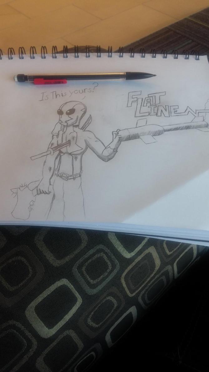 Flatline drawing by syberthehedgehog