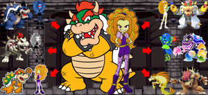 Bowser and Adagio's Transformations and Versions