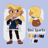 .:Starmakers:.  Umi Sparks redesign by nikukurin