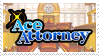 Ace Attorney stamp by nikukurin