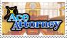 Ace Attorney stamp by nikukurin