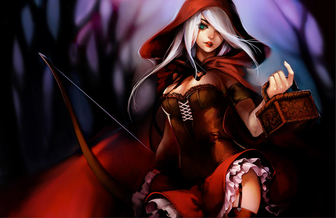LoL: Red Ashe by ippus on DeviantArt