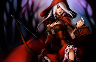 LoL: Red Ashe by ippus
