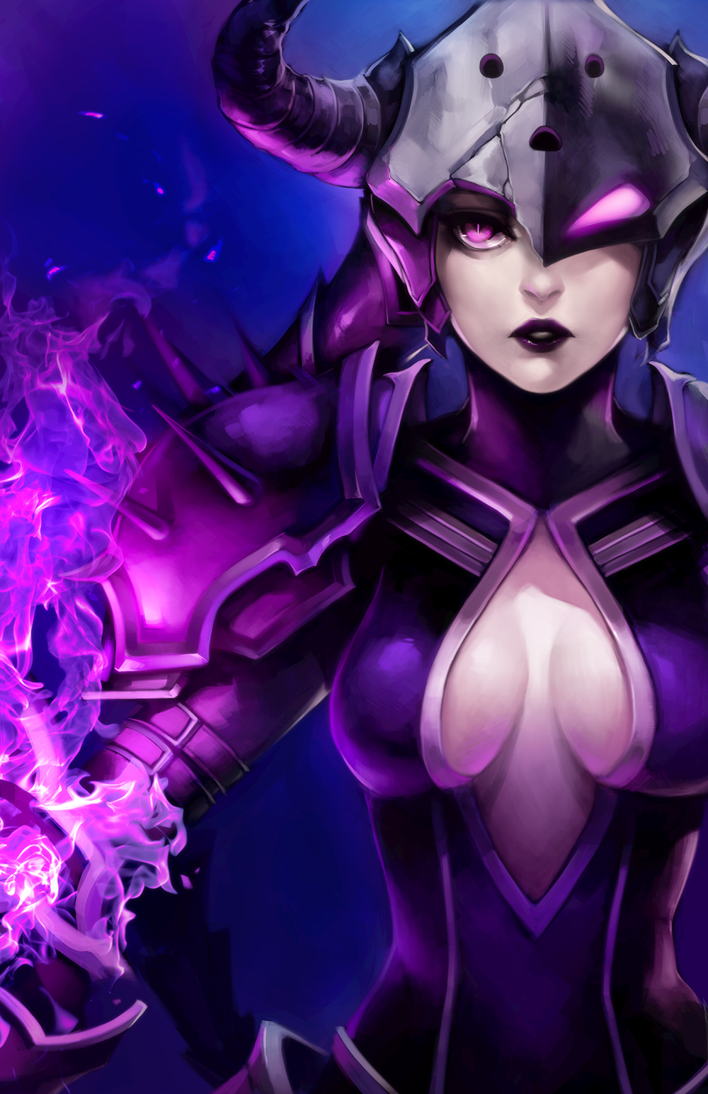 LoL: Darkflame Shyvana by ippus