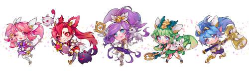 LoL : Star Guardians Team A by ippus