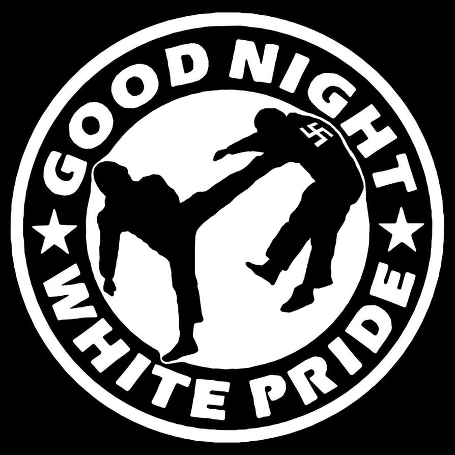 Good Night White Pride Antifa Logo Sticker Design By Kiriltodorov On