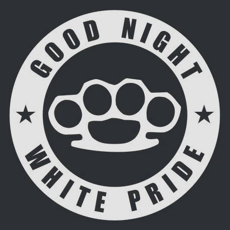 Good night white pride antifa logo sticker design by kiriltodorov