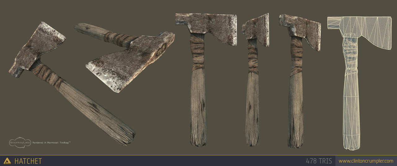 Low Poly Hatchet by CCrumpler