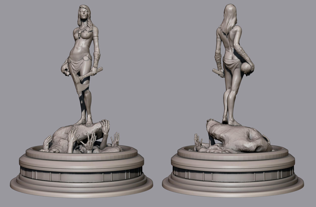 WIP Statue by CCrumpler