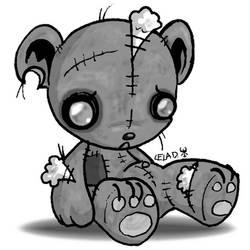 Tattered Teddy Bear by metallixfaker