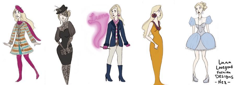 Luna Lovegood Fashion Designs by wondernez on DeviantArt