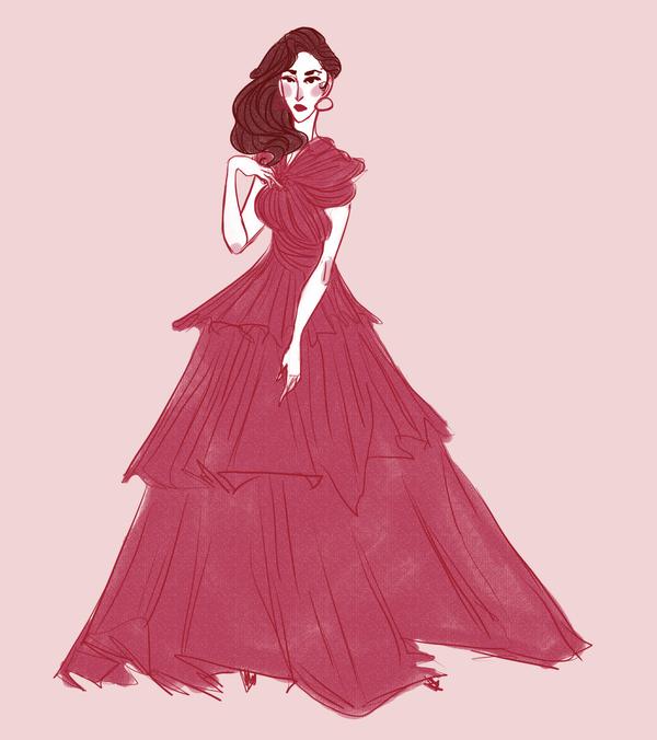 rose dress by wondernez
