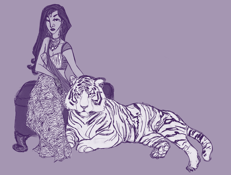 white tiger princess by wondernez