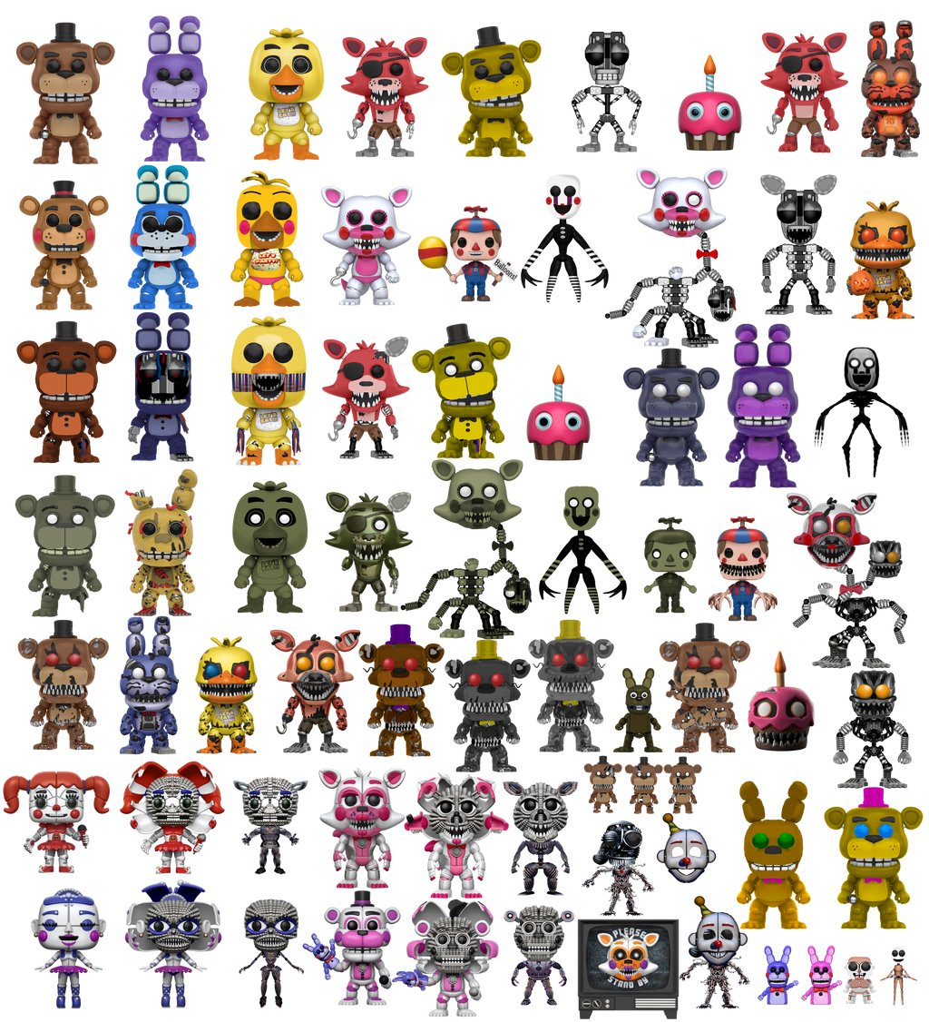 All Fnaf Funko Pops By Diegopegaso87 On Deviantart