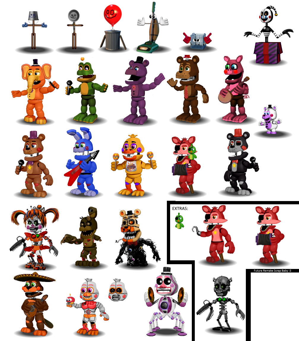 Fnaf 6 All Animatronics By Diegopegaso87 On Deviantart