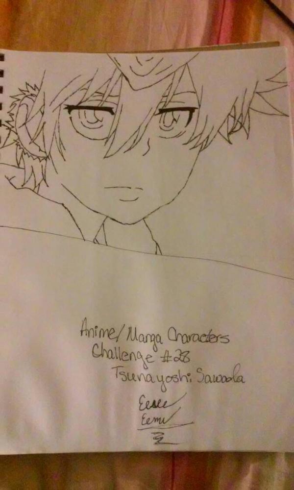 Anime/Manga Characters Challenge #28 Tsuna  by Sasukebunny10955