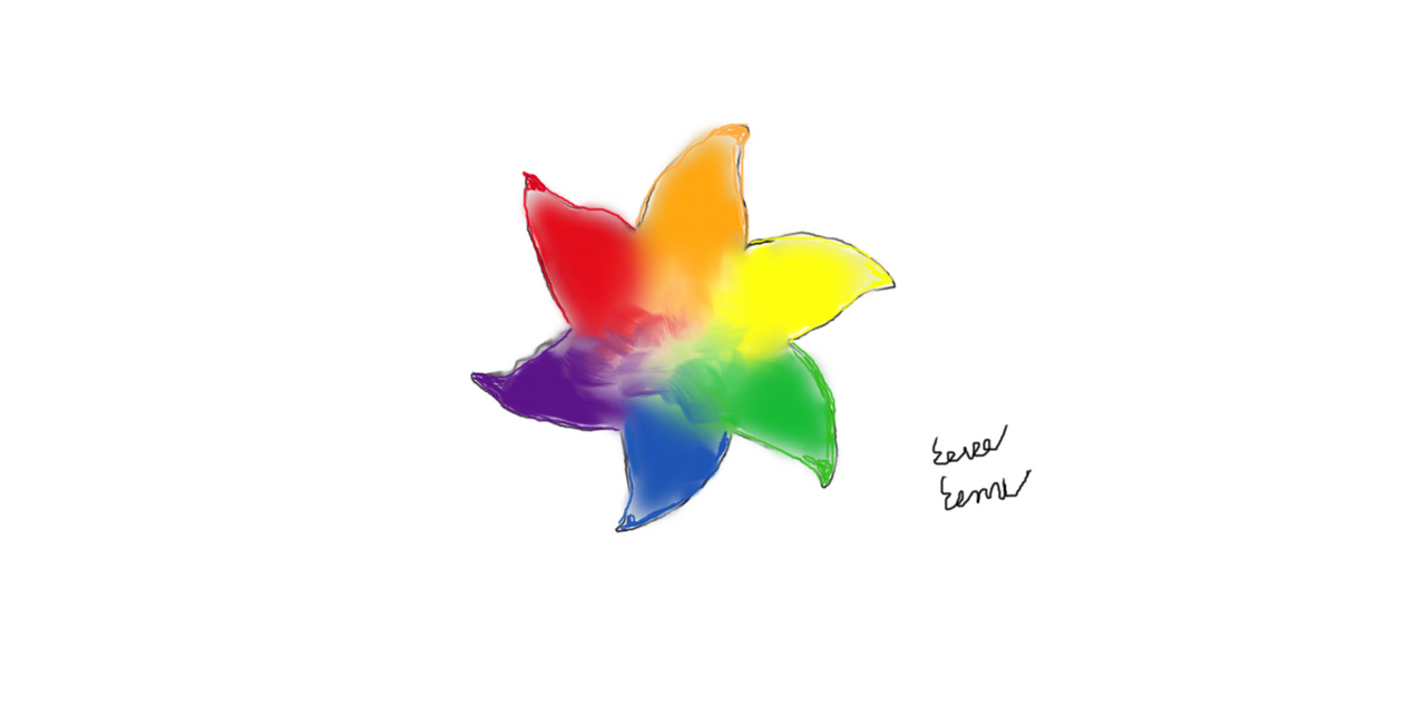Rainbow Flower Ninja Star by Sasukebunny10955