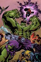 World War Hulk v X-Men by Hitotsumami