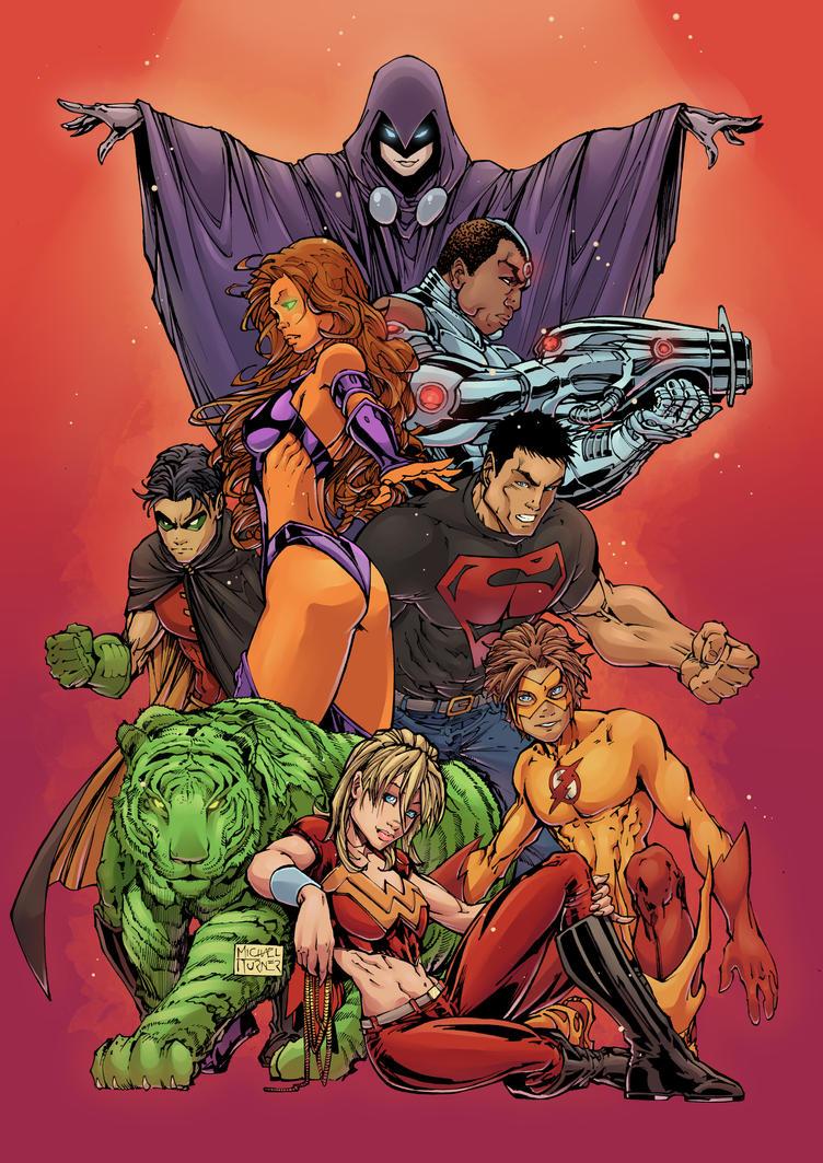 Teen Titans by Hitotsumami
