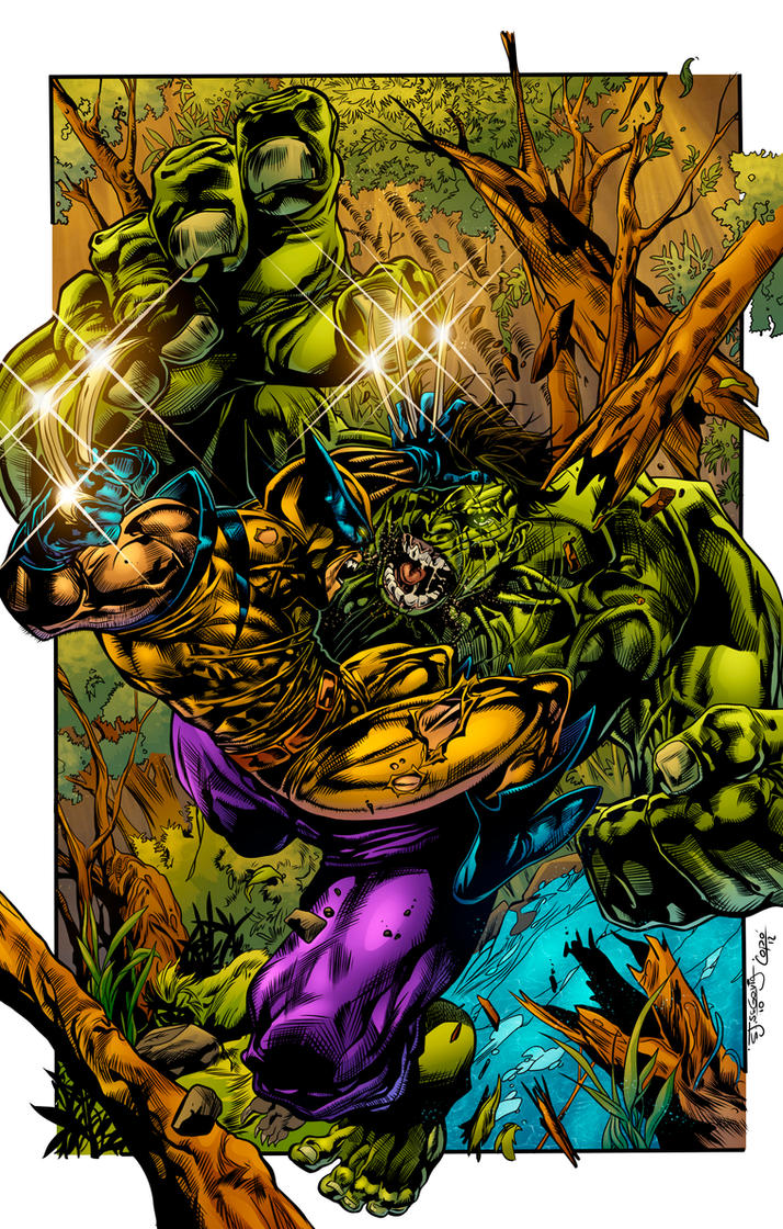 Wolverine vs The Hulk by Hitotsumami