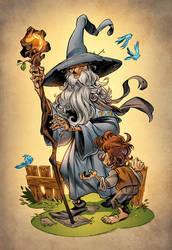 Gandalf and Bilbo by Hitotsumami