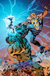 Thor VS Hulk by Hitotsumami