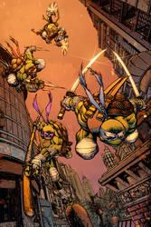 Teenage Mutant Ninja Turtles by Hitotsumami
