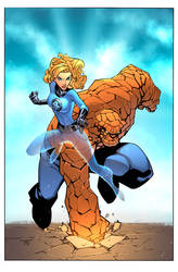 Invisible Woman and The Thing by Hitotsumami