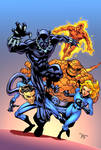 Black Panther and the Fantastic Four by Hitotsumami