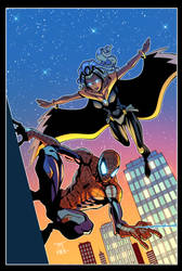 Spiderman and Storm