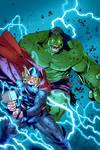 Hulk vs Thor by Hitotsumami