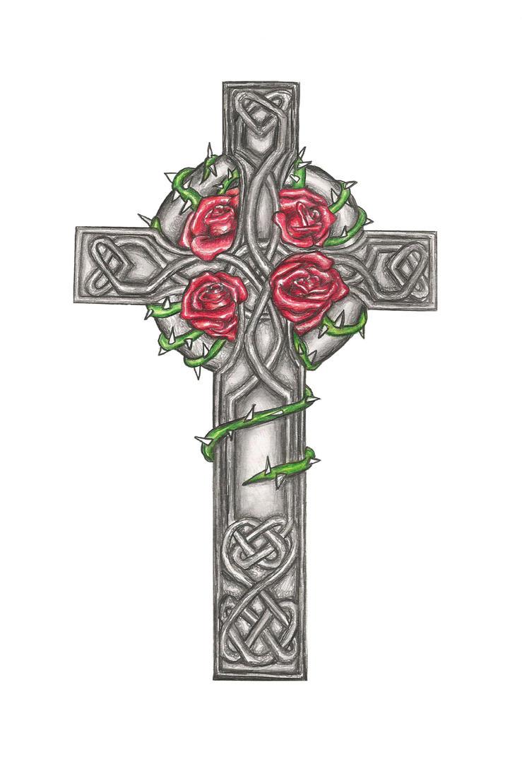 celtic cross tattoo design commision by laurenroseox on deviantart. Black Bedroom Furniture Sets. Home Design Ideas