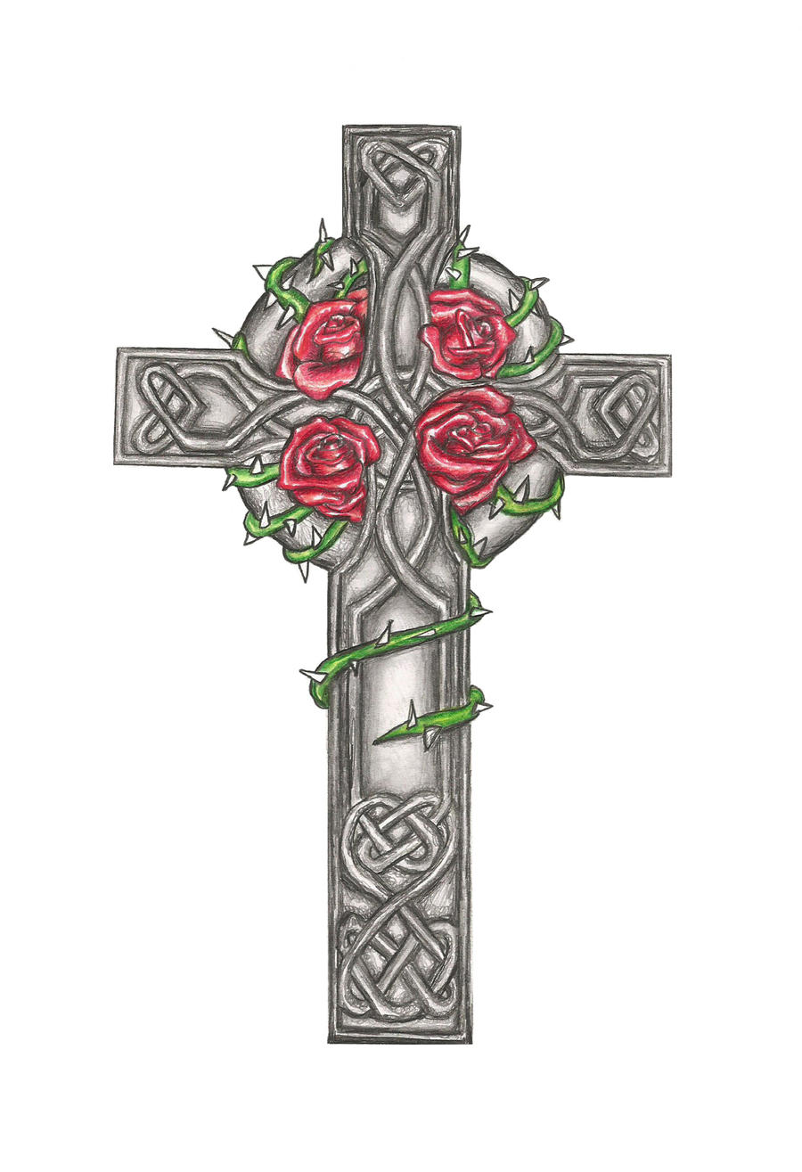 celtic cross tattoo design commision by laurenroseox on deviantart. Black Bedroom Furniture Sets. Home Design Ideas