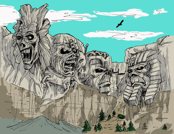 Eddie Mount Rushmore by jasonmg1