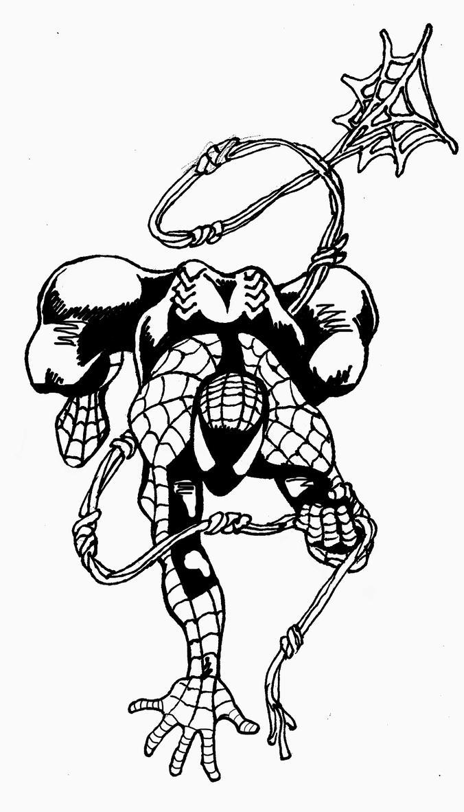 spider man tattoo inked by jasonmg1 on deviantart. Black Bedroom Furniture Sets. Home Design Ideas