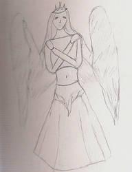 Fallen Angel Girl by FallenNekoChild