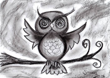 Happy Owl by chibicthulhu