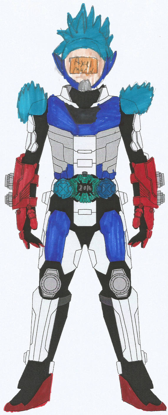 kamen rider TL guardian Axel Marin armor by tlynch34