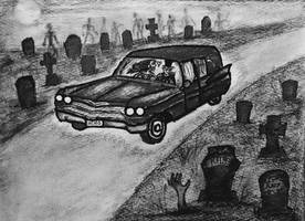 A Hitchhiker's Nightmare, a Mortician's Dream by CursedHearse