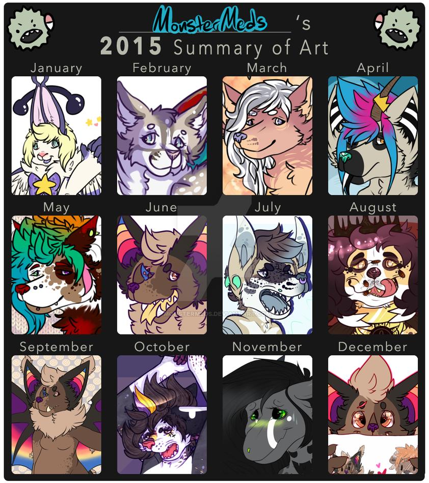2015 Summary of Art by MonsterMeds