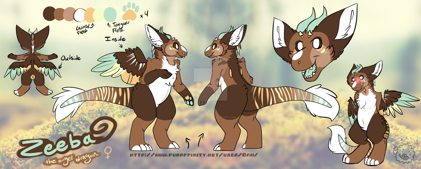 Zeeba Ref Sheet by MonsterMeds
