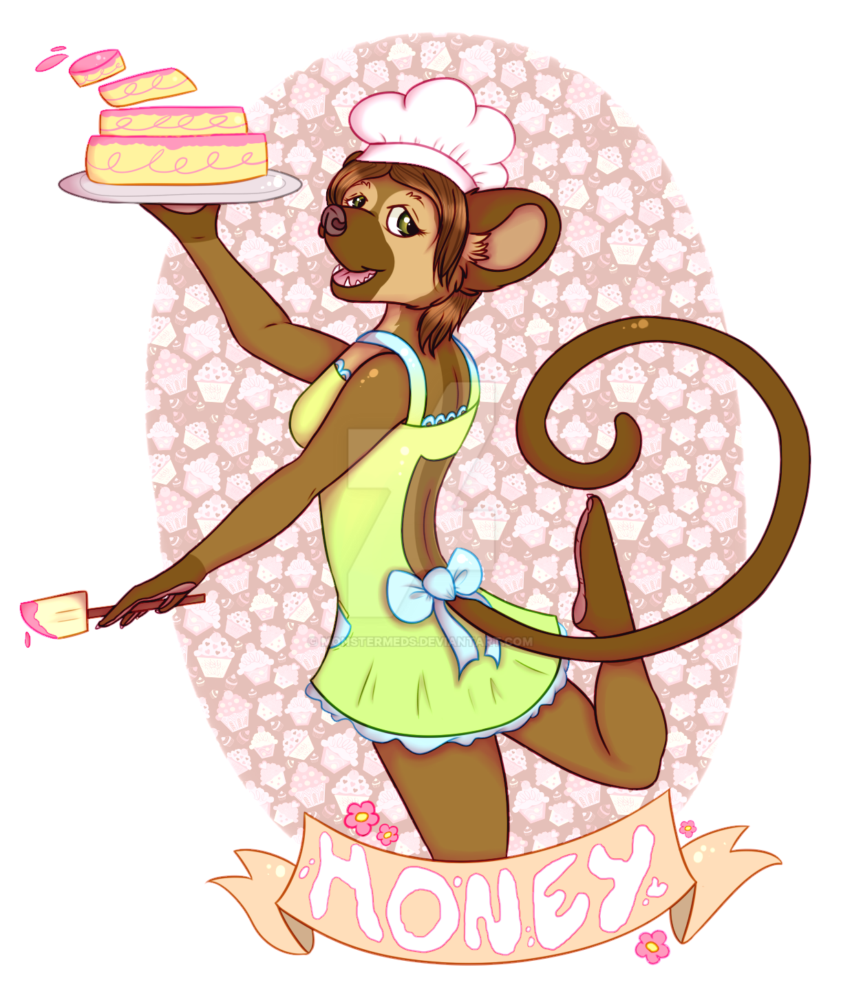 Honey the Baking Kinkajou Badge by MonsterMeds
