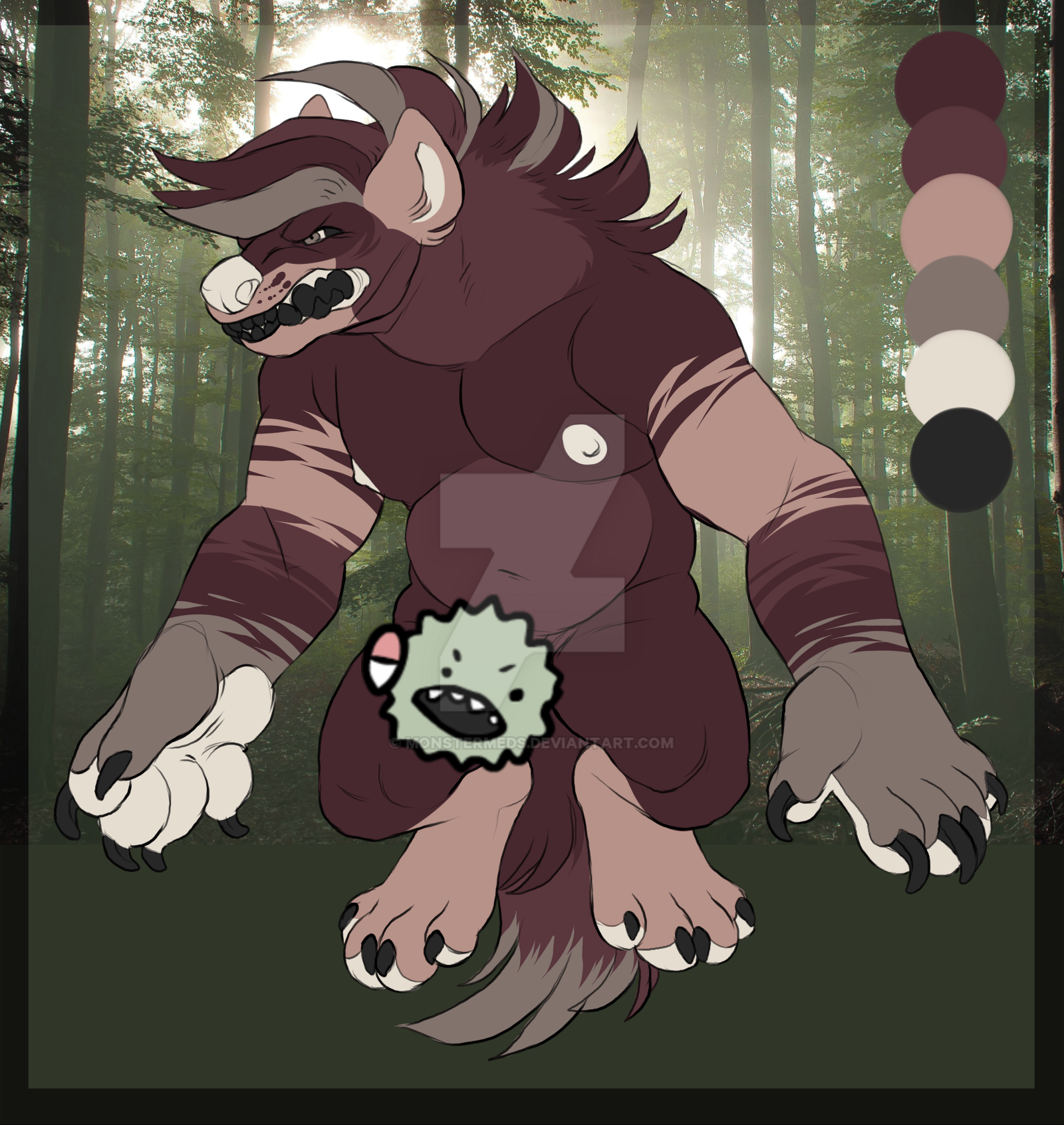 Lowered - Forest Yeen Adoptable! OPEN by MonsterMeds